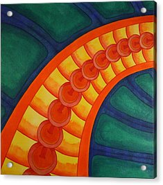Acrylic Print featuring the painting Embellishments V by Paul Amaranto