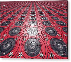 Embossed Record Tiles Acrylic Print by Jeannie Atwater Jordan Allen