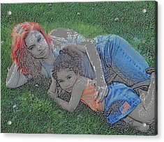 Embrace Your Child Acrylic Print by Rebecca Frank