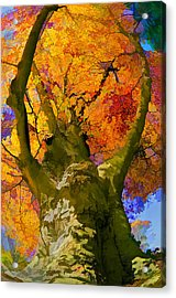 Embracing The Color Acrylic Print