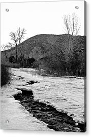 Acrylic Print featuring the photograph Embudo Ice by Atom Crawford