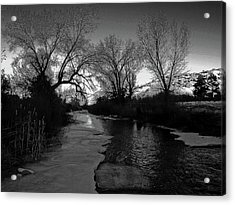 Acrylic Print featuring the photograph Embudo Moon by Atom Crawford