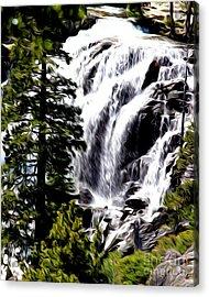 Acrylic Print featuring the photograph Emerald Bay Waterfall by Anne Raczkowski