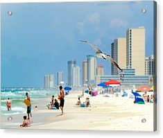 Acrylic Print featuring the photograph Emerald Beach by Anna Rumiantseva