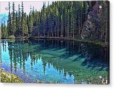 Emerald Mountain Pond Acrylic Print by Jo-Anne Gazo-McKim