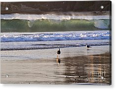 Acrylic Print featuring the photograph Emerald Wave by Johanne Peale