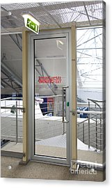 Emergency Exit At An Airport Acrylic Print by Jaak Nilson