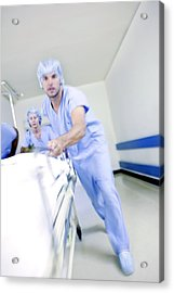 Emergency Hospital Treatment Acrylic Print by