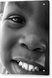 Emery Smile Acrylic Print by Sally Bauer