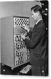 Emiac Mainframe Acrylic Print by Archive Photos
