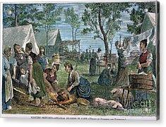 Emigrants: Arkansas, 1874 Acrylic Print by Granger