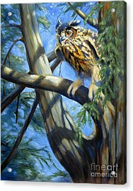 Acrylic Print featuring the painting Eminent Flight by Pat Burns
