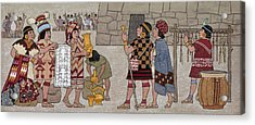 Emissaries Bring Tribute To Inca Acrylic Print by Ned M. Seidler