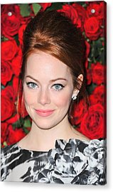 Emma Stone At Arrivals For Momas 4th Acrylic Print