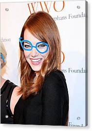 Emma Stone At Arrivals For The Acrylic Print