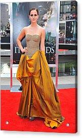 Emma Watson Wearing A Bottega Veneta Acrylic Print