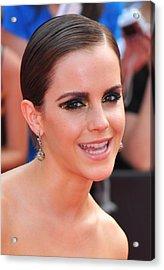 Emma Watson Wearing Lorraine Schwartz Acrylic Print