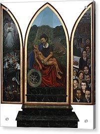 Emmett Till Memorial Triptych Acrylic Print by Art Nomad Sandra  Hansen