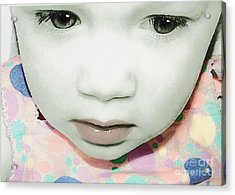 Emo Pop Baby Acrylic Print by Laura Brightwood