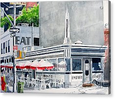 Acrylic Print featuring the painting Empire Diner by Tom Riggs