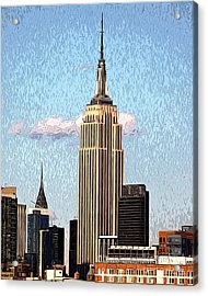 Acrylic Print featuring the photograph Empire State Building by Anne Raczkowski