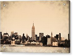 Empire State Building Acrylic Print by Bill Cannon