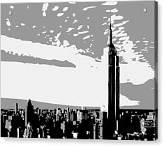 Empire State Building Bw3 Acrylic Print by Scott Kelley