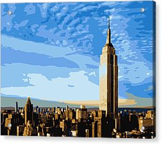 Empire State Building Color 16 Acrylic Print by Scott Kelley