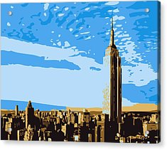 Empire State Building Color 6 Acrylic Print by Scott Kelley