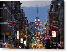 Empire State Building  Acrylic Print by Ed Rooney