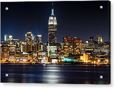 Empire State Building From Hoboken Acrylic Print