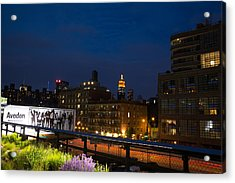 Empire State From High Line Acrylic Print by John Dryzga