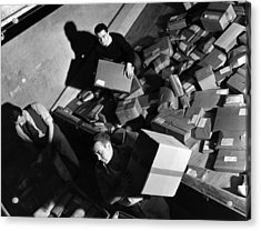 Employees At Macys Department Store Acrylic Print by Everett