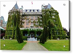 Empress Hotel - Victoria Canada  Acrylic Print by Gregory Dyer