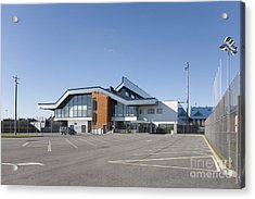 Empty Airport Parking Lot Acrylic Print by Jaak Nilson
