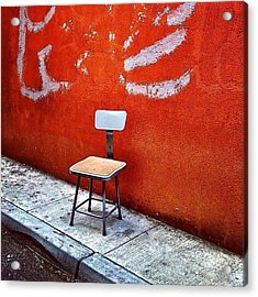 Empty Chair Acrylic Print