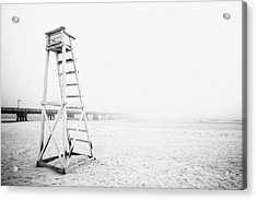 Empty Life Guard Tower 2 Acrylic Print by Skip Nall