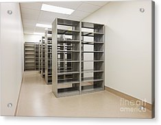 Empty Metal Shelves Acrylic Print