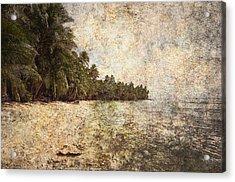 Empty Tropical Beach 2 Acrylic Print by Skip Nall
