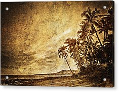 Empty Tropical Beach 3 Acrylic Print by Skip Nall