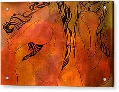 En Gallop Acrylic Print