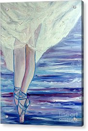Acrylic Print featuring the painting En Pointe by Julie Brugh Riffey