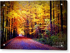 Enchanted Fall Forest Acrylic Print