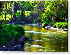 Enchanted River Acrylic Print by Rebecca Frank
