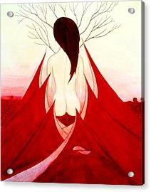 Enchantress Red Acrylic Print by Fariz Kovalchuk