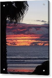 Encinitas Sunset Acrylic Print by Christine Drake