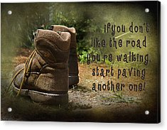 Encouragement Acrylic Print by Trudy Wilkerson