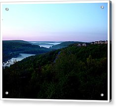 End Of A Perfect Day At Deep Creek Acrylic Print by Frank Wickham