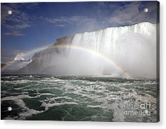 End Of The Rainbow Acrylic Print by Amanda Barcon
