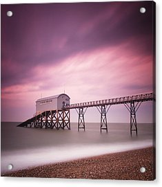 England Selsey Acrylic Print by Nina Papiorek